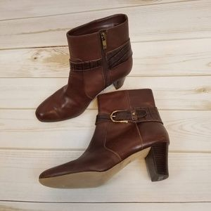 Anne Klein Brown Leather booties size 6.5